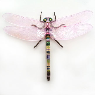 Dragonfly mosaic in frame